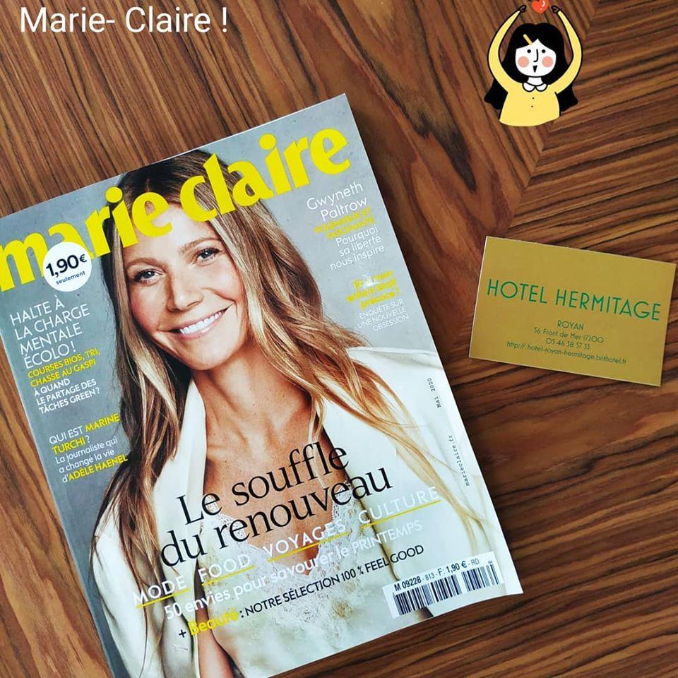 Retrouvez-nous dans le numéro de Marie Claire du mois de mai !!